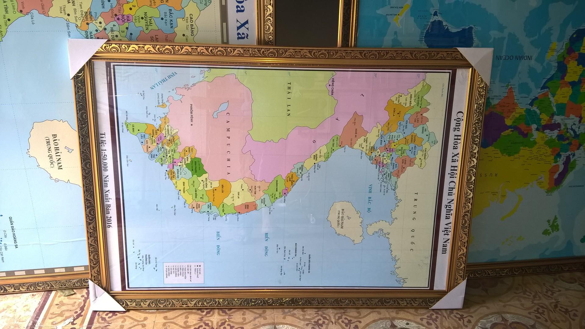 Khung tranh bản đồ Việt Nam