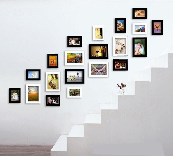 khung tranh treo cầu thang