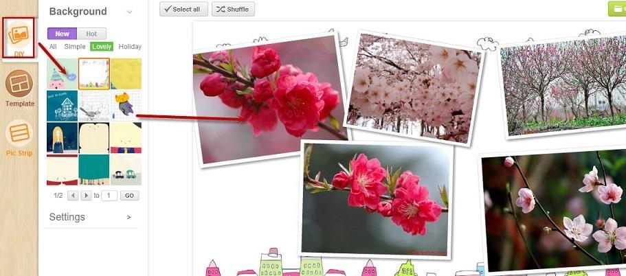 tạo khung ảnh online với clipyourphotos